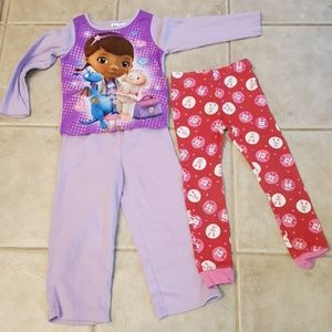 Girl's Disney Pjs with Free pj bottoms
